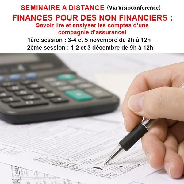 FINANCES POUR DES NON FINANCIERS : Savoir lire et analyser les comptes d'une compagnie d'assurance !